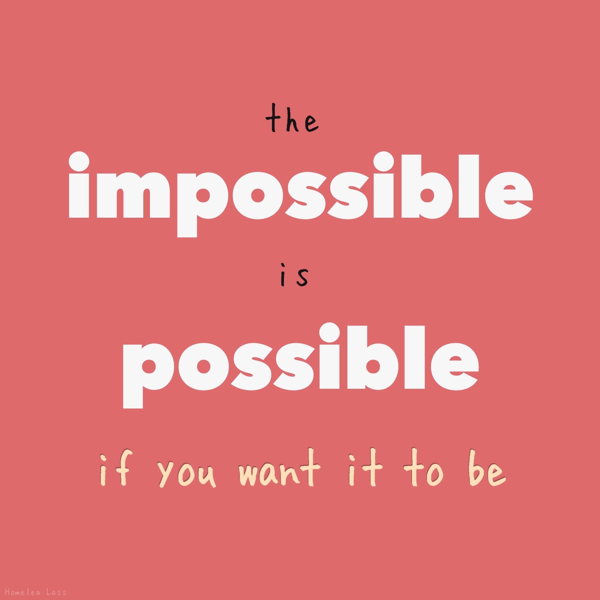 Impossible list, help make impossible possible! Check it out!