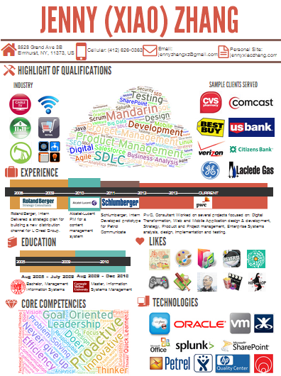 check out jenny xiao zhang s info graphic resume